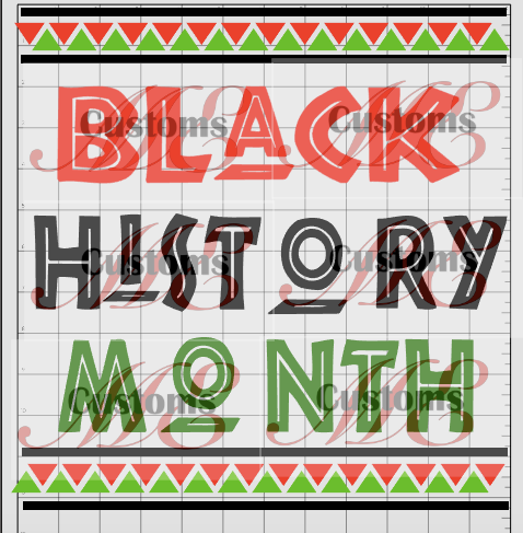 BLACK HISTORY MONTH Design for Men's Casual T-Shirts - ME Customs, LLC