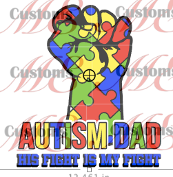 Autism Bundle Design Print for Casual T-Shirts and Shirts for Men and Women - ME Customs, LLC