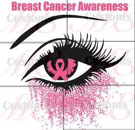 Alerted Eye Calling for Awareness (Breast Cancer) Design for Women - ME Customs, LLC