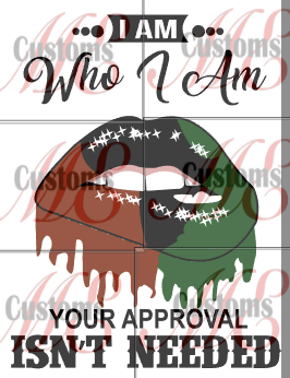 Artistic Lips Telling Your Approval Isn't Needed Design for Casual T-Shirts for Women - ME Customs, LLC