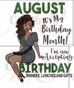 Accepting Birthday Surprises All Months Print For Womens T Shirts