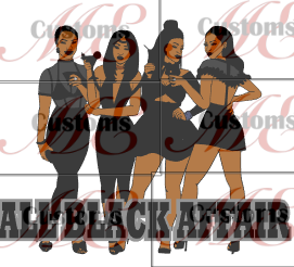 ALL BLACK AFFAIR Print for Women's Casual Shirts and T-Shirts - ME Customs, LLC