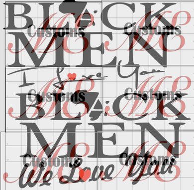 BLACK MEN I love you BLACK MEN We love you Design for Women's Casual T-Shirts - ME Customs, LLC