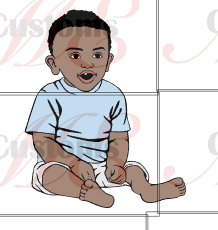 Baby Boy Sitting with Open Mouth Trying Speaking Design for - ME Customs, LLC