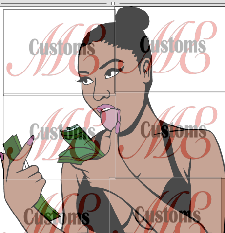 Young Girl Urging 'Don't Count my Money' SVG Design for Women's Casual Outfit - ME Customs, LLC