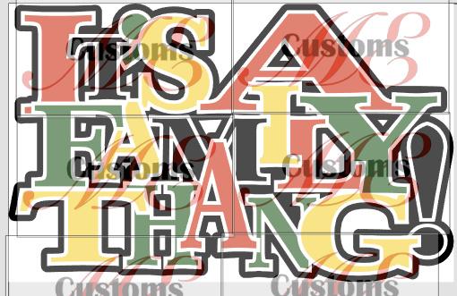 It's A Family Thang SVG Design for Men's and Women's Casual T-Shirts - ME Customs, LLC