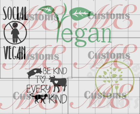 Vegan Bundle SVG - ME Customs, LLC