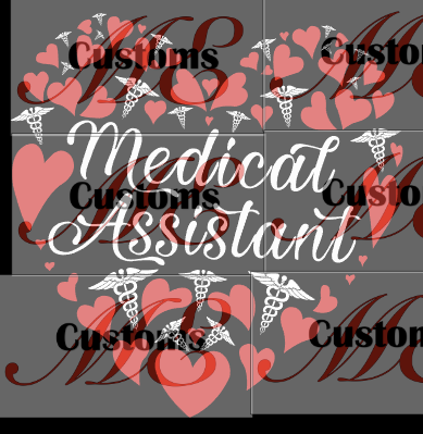Medical Assistant Heart (Nurse) SVG/PNG - ME Customs, LLC