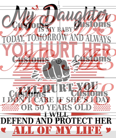 If you mess with my Daughter SVG - ME Customs, LLC
