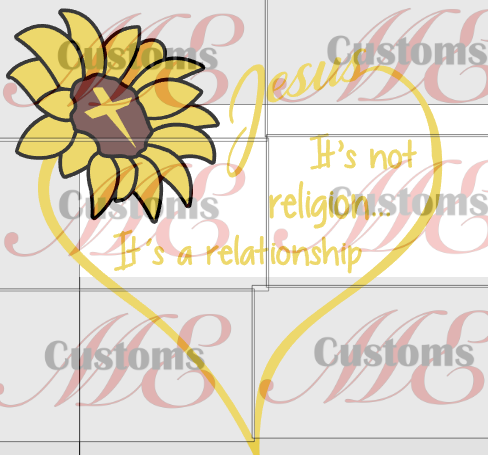 Jesus is Not A Religion Sunflower - ME Customs, LLC