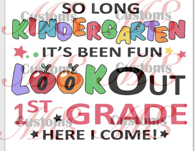 Lookout 1st Grade (Promotion/Grad) - ME Customs, LLC