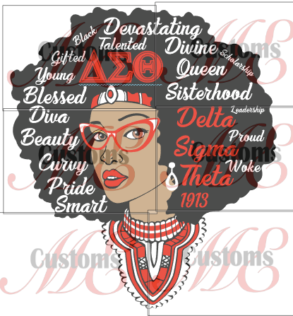 Queen with Words (DST Inspired-PNG Only) - ME Customs, LLC