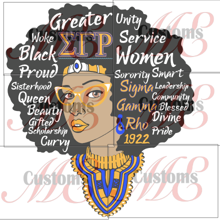 Queen with Words (SGR Inspired-PNG Only) - ME Customs, LLC