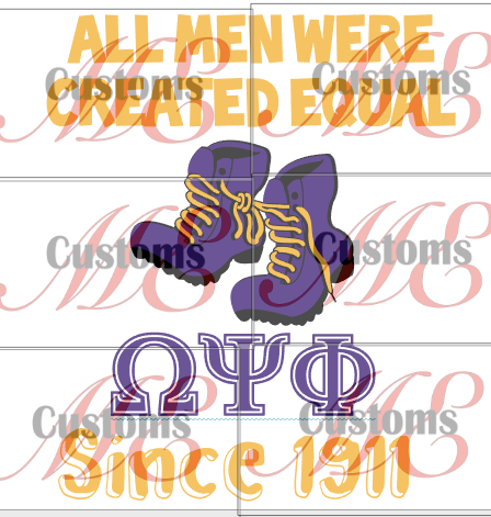 All Men Were Created Equal Until... (Greek Inspired) - All Greeks Included - ME Customs, LLC