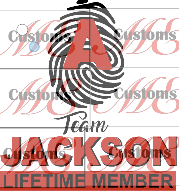 Team Life Time Member (All Alphabets Included) - ME Customs, LLC