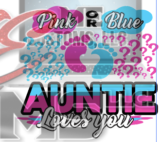 Pink or Blue I Love You (Gender Reveal or Baby Shower) - ME Customs, LLC