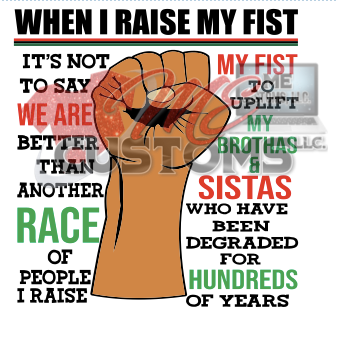 Black History: When I Raise My Fist