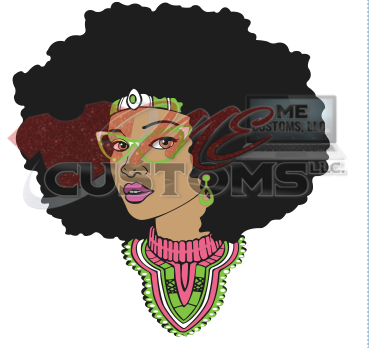Queen Afro Word Blank Head - ME Customs, LLC