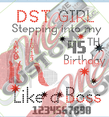 DST Stepping into Birthday (Dots) - ME Customs, LLC