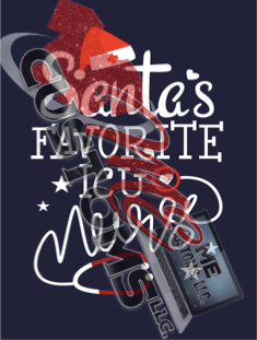 Santa ICU Fav Nurse - ME Customs, LLC