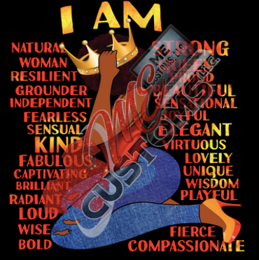 I Am... (Iron On Screen Print Transfer Sheet Only) - ME Customs, LLC