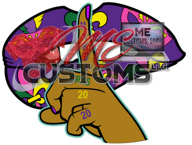 Mardi Gras Lips (SVG/PNG) - ME Customs, LLC
