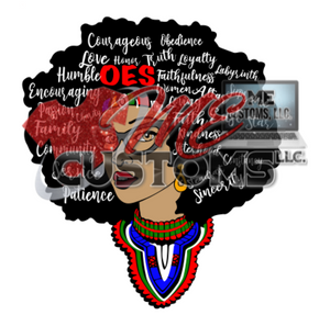 OES Queen Fro Layered SVG (SVG) - ME Customs, LLC