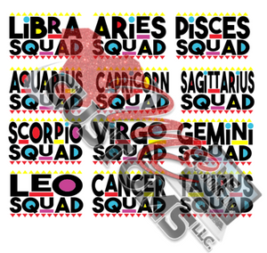 Zodiac Squad {Martin Inspired} (SVG/PNG) - ME Customs, LLC