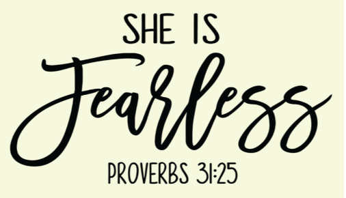 She is Fearless {PURPLE PRINT} (Iron On Screen Print Transfer Sheet Only) - ME Customs, LLC