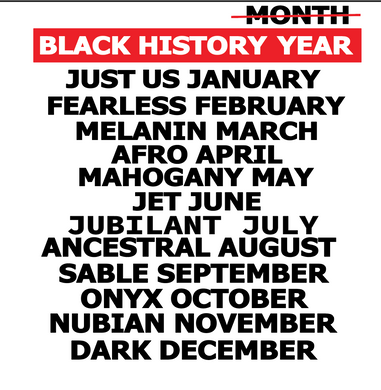 Black History: Black History Year {RED/WHITE PRINT}(Iron On Screen Print Transfer Sheet Only)