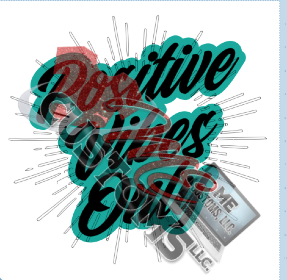 Positive Vibes Only (SVG/PNG) - ME Customs, LLC