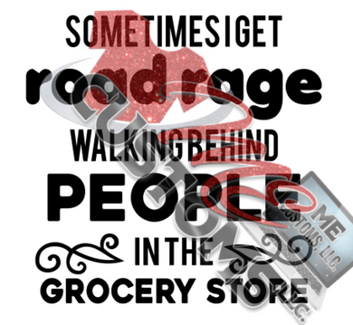 Road Rage in Grocery Store (SVG)