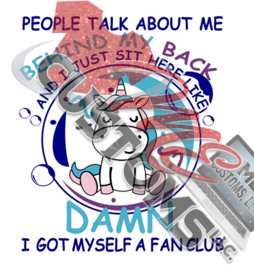 Talk about me....FAN Club (SVG)