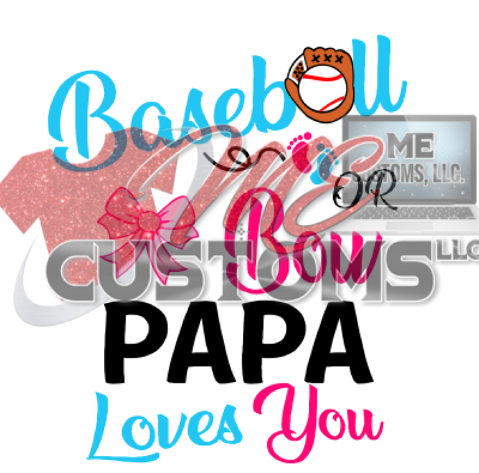 Baseball or Bows (Gender Reveal) SVG - ME Customs, LLC