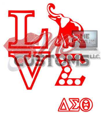 LOVE DST inspired (SVG) - ME Customs, LLC