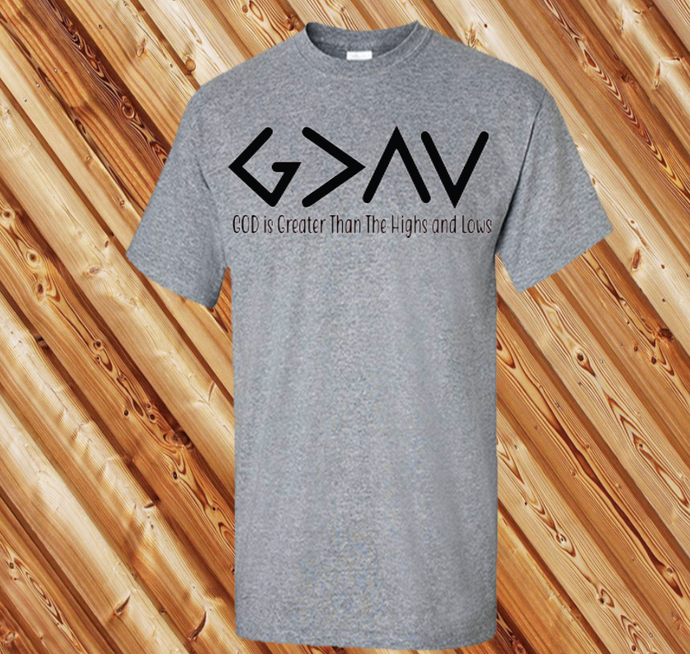 God is Greater 2 (BK Text) (Iron On Transfer Sheet Only) - ME Customs, LLC