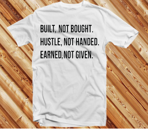 Built Not Bought BK (IRON ON SCREEN PRINT TRANSFER) - ME Customs, LLC