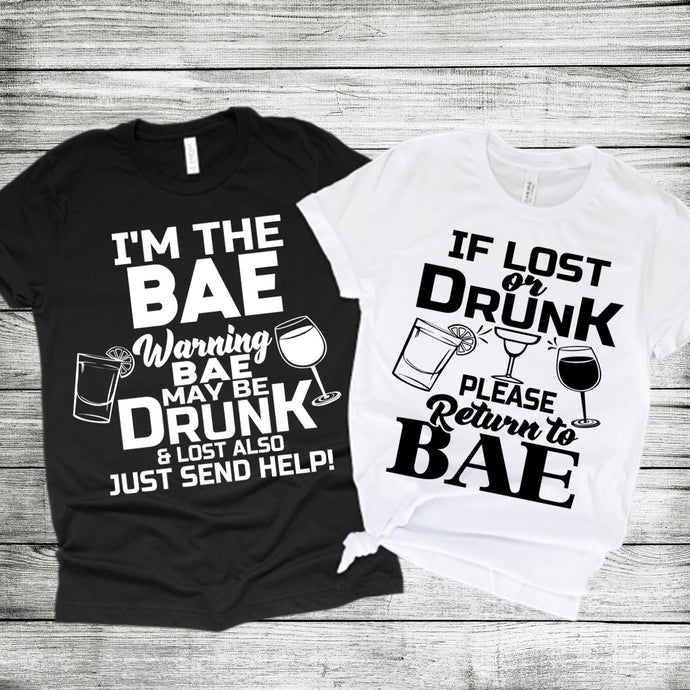 Drunk Return to BAE {Black Text} (Iron On Transfer Sheet Only) - ME Customs, LLC