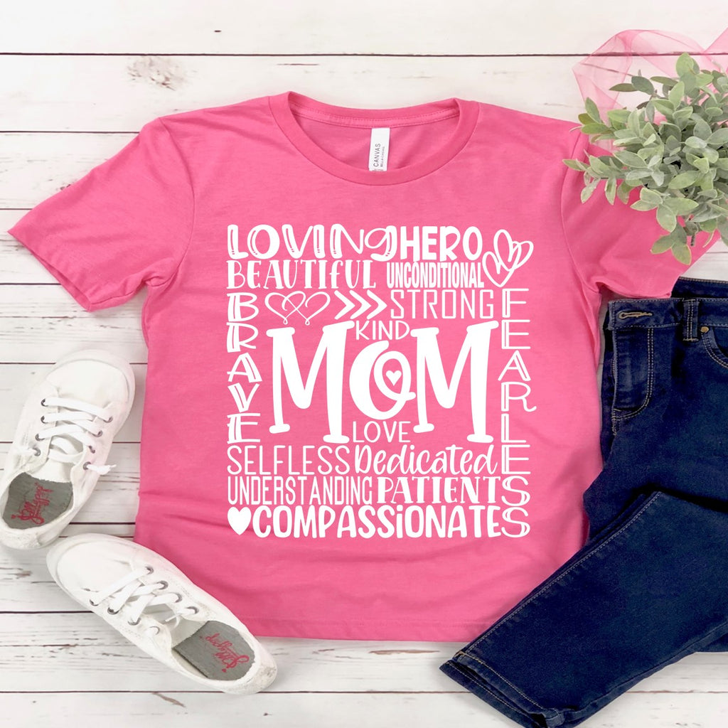 Mom Typography.... (IRON ON SCREEN PRINT TRANSFER) - ME Customs, LLC