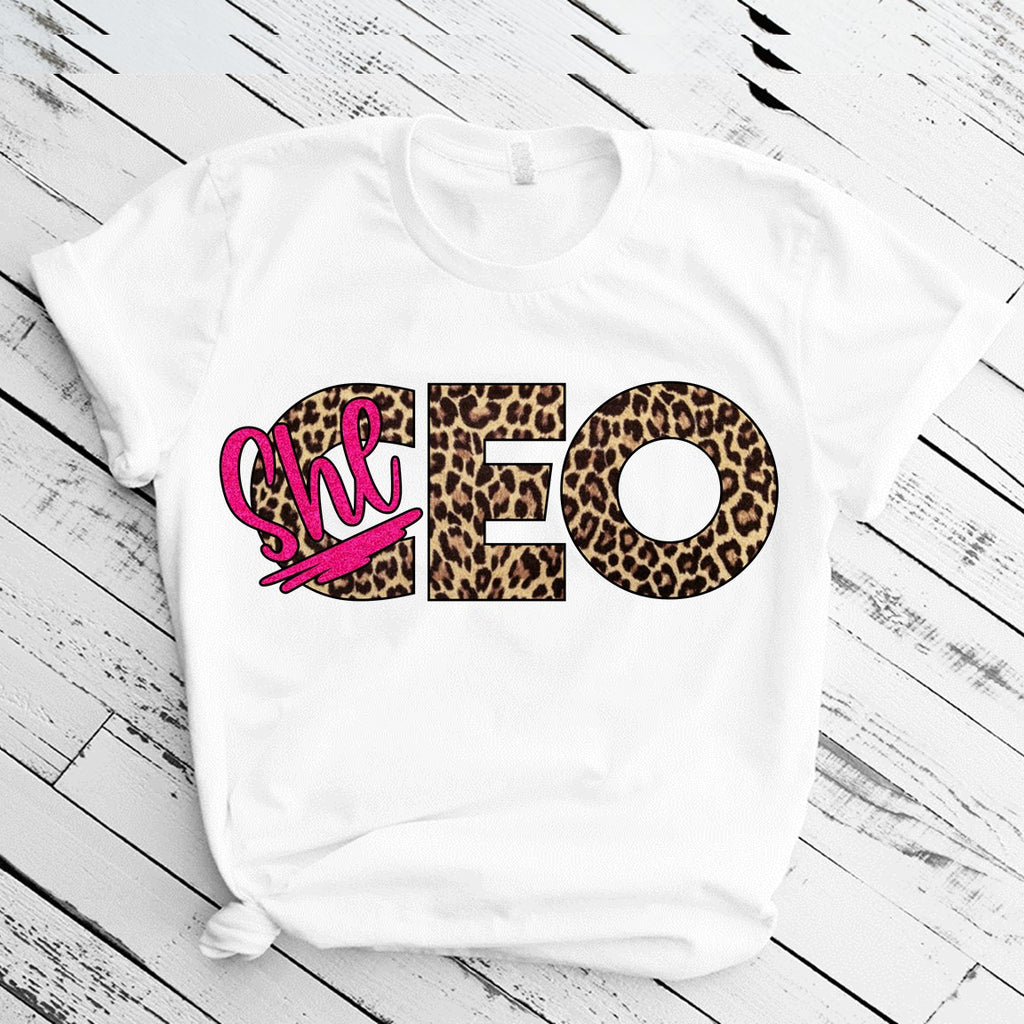 SheCEO (IRON ON SCREEN PRINT TRANSFER) - ME Customs, LLC