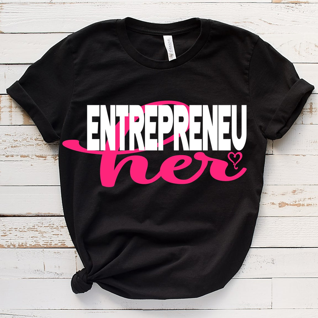 EntrepreneuHER Heart (IRON ON SCREEN PRINT TRANSFER) - ME Customs, LLC