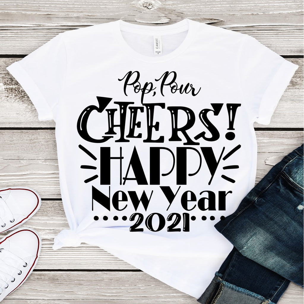 Pop Pour Cheers (IRON ON SCREEN PRINT TRANSFER) - ME Customs, LLC