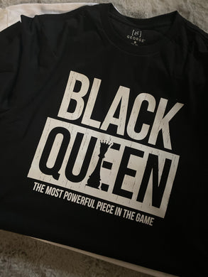 Black Queen {White Text} (Iron On Transfer Sheet Only) - ME Customs, LLC