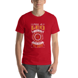 Piss A Leo Short-Sleeve Unisex T-Shirt - ME Customs, LLC