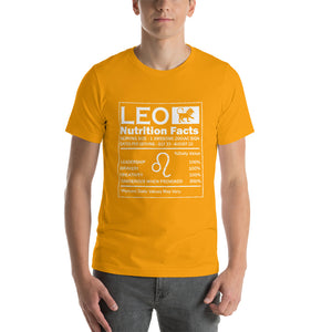 Leo Nutrition Facts Short-Sleeve Unisex T-Shirt - ME Customs, LLC