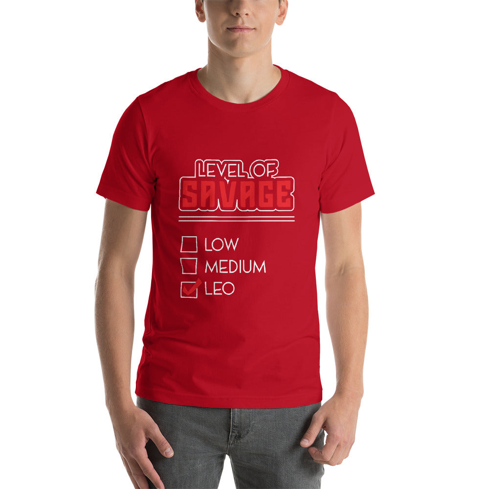 Level Of  Savage Short-Sleeve Unisex T-Shirt - ME Customs, LLC