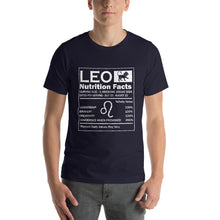 Load image into Gallery viewer, Leo Nutrition Facts Short-Sleeve Unisex T-Shirt - ME Customs, LLC