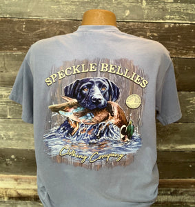 Speckle Bellies-Dog in Water