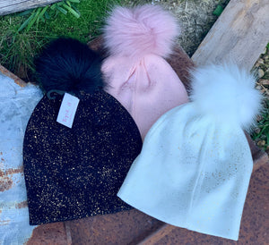 Top It Off-Eliza Pom Pom Hat