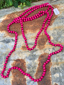 Wrap Necklace-Hot Pink-1